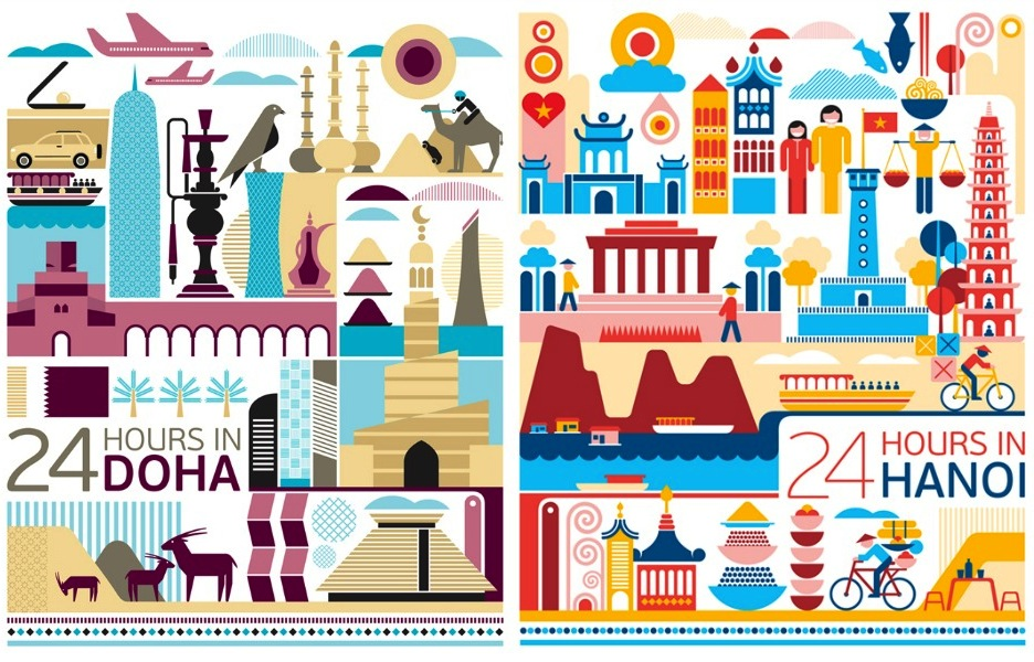 Around The World In 10 Travel Posters Through The