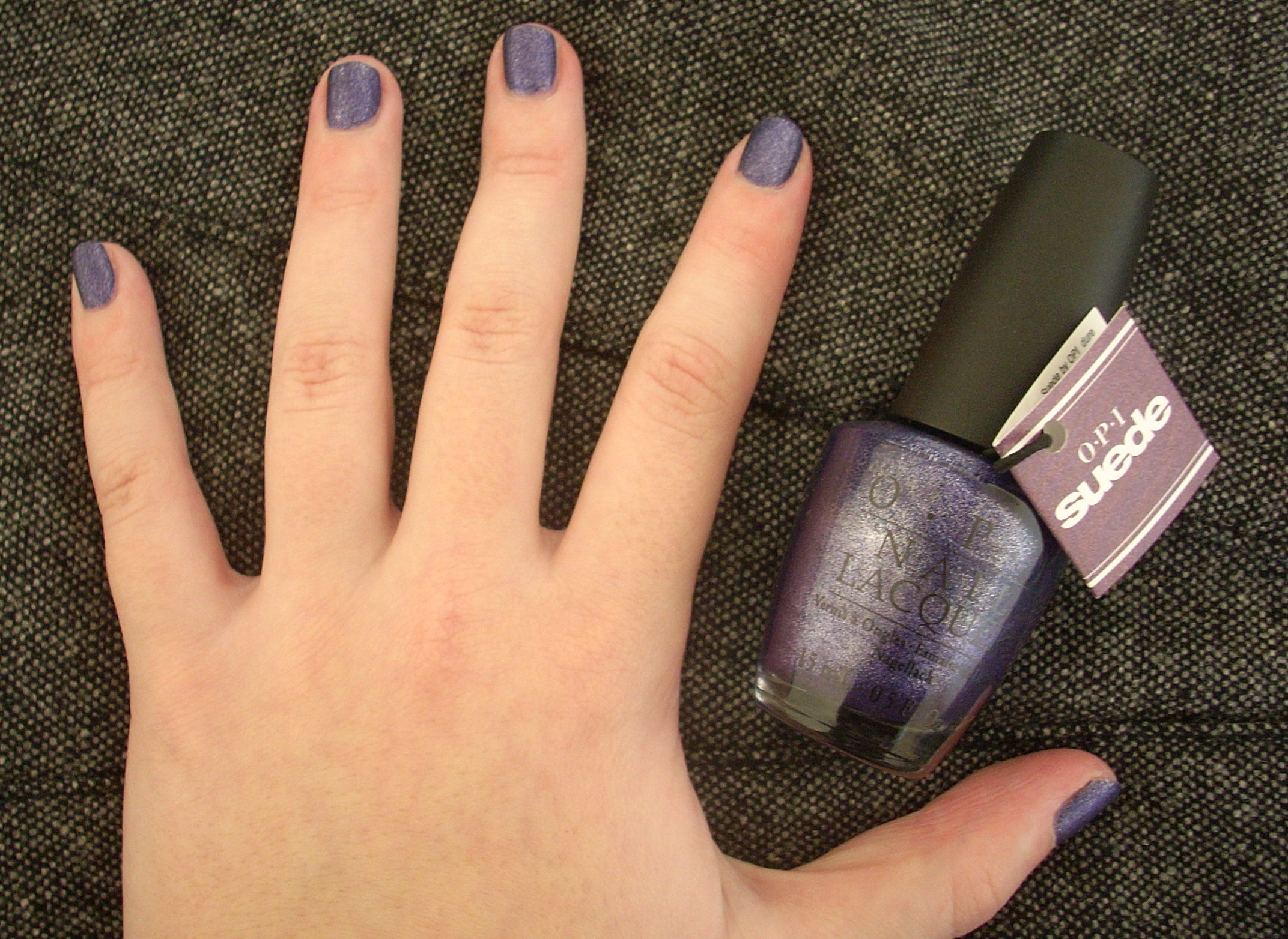 OPI Suede Ink nail polish review | Through The Looking Glass