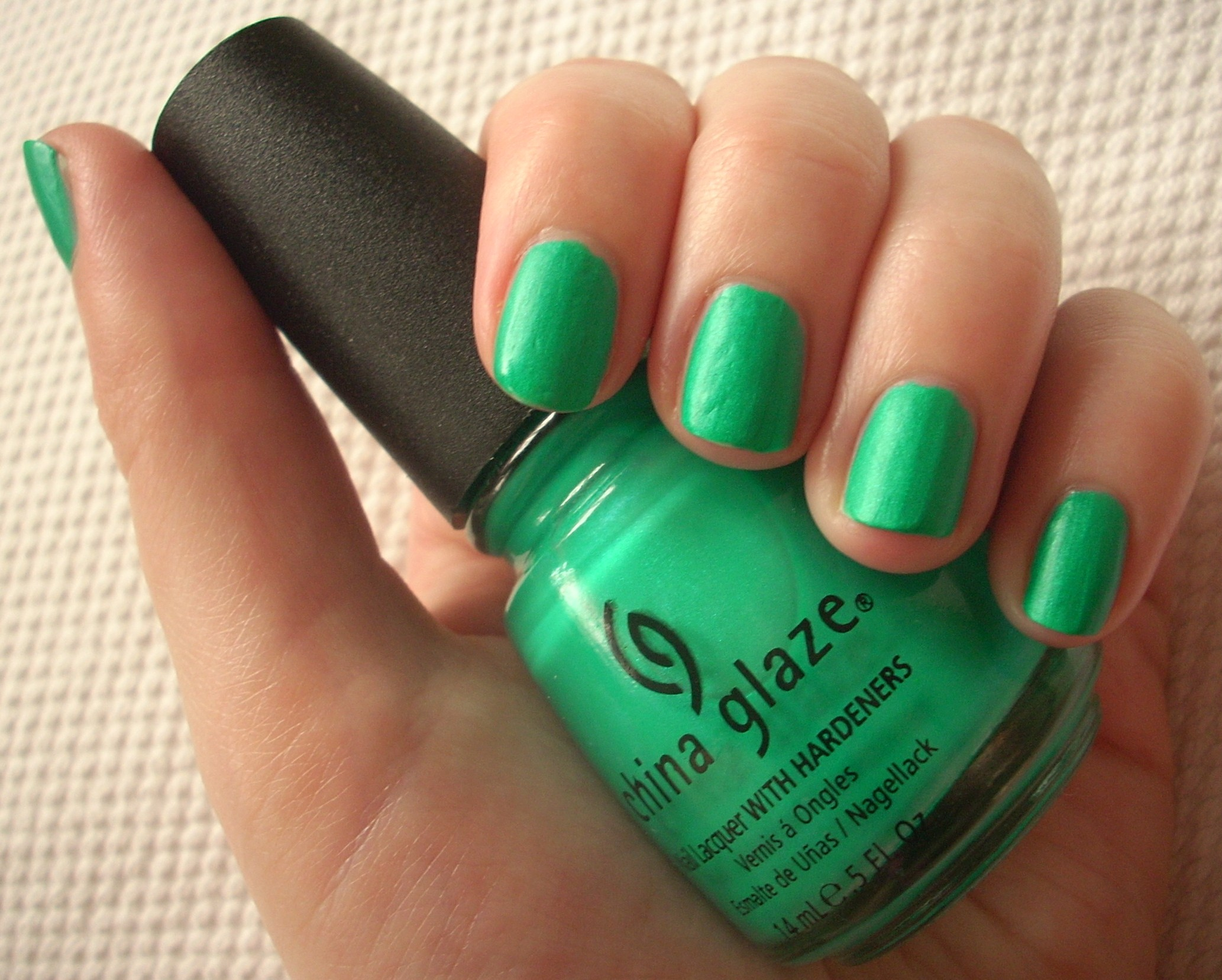 China Glaze Turned Up Turquoise nail polish review | Through The ...
