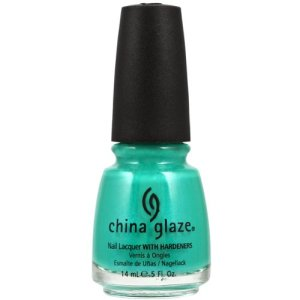 China Glaze Turned Up Turquoise nail polish review