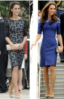 kate middleton, blue lace dress