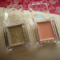 Canmake Jewel Star Eyes, Stone Gold and Illumination Nude eye shadow review