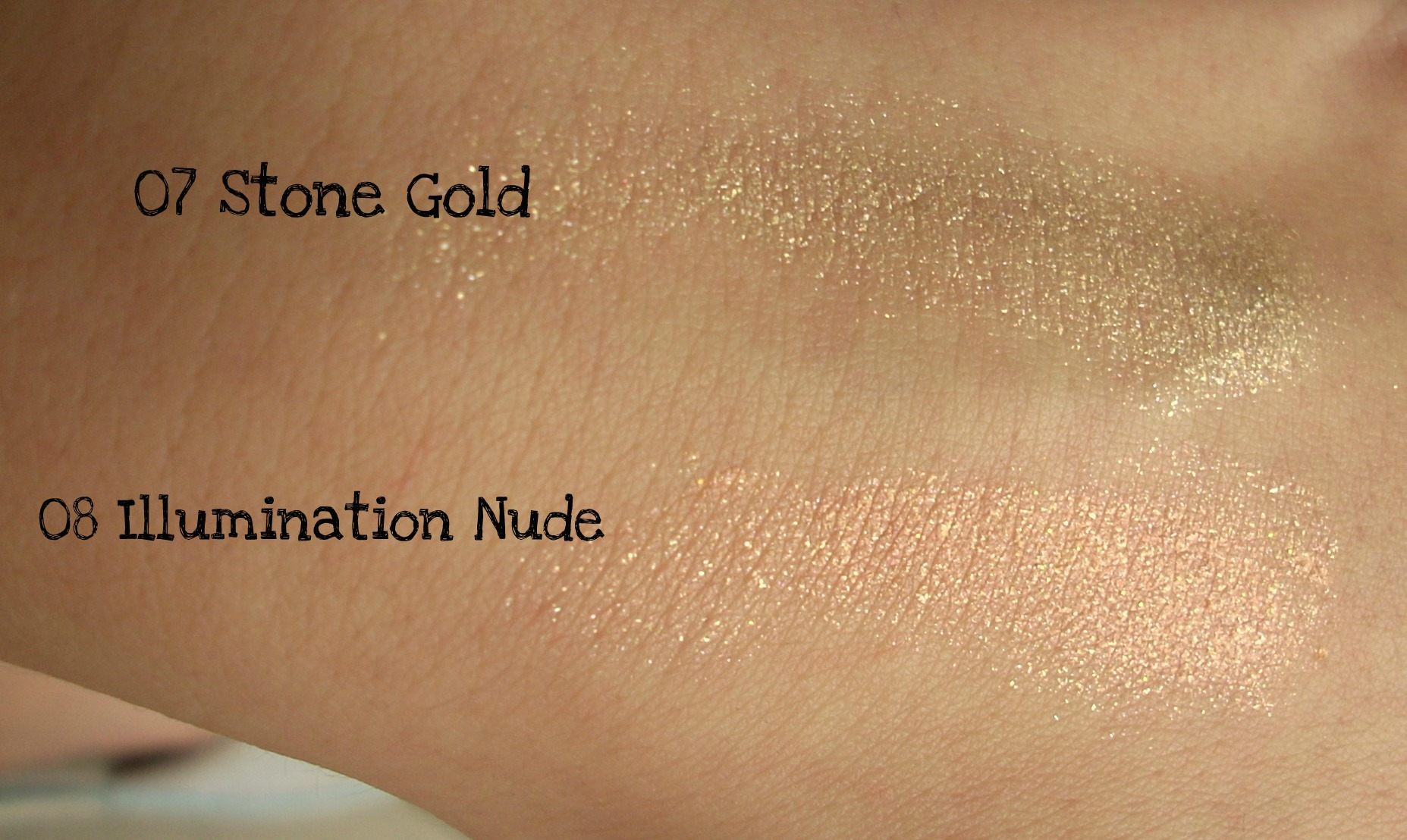 canmake jewel star eyes swatch gold nude Bebe Jade