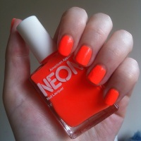 American Apparel Neon Coral nail polish review