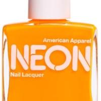 American Apparel Neon Orange nail polish review
