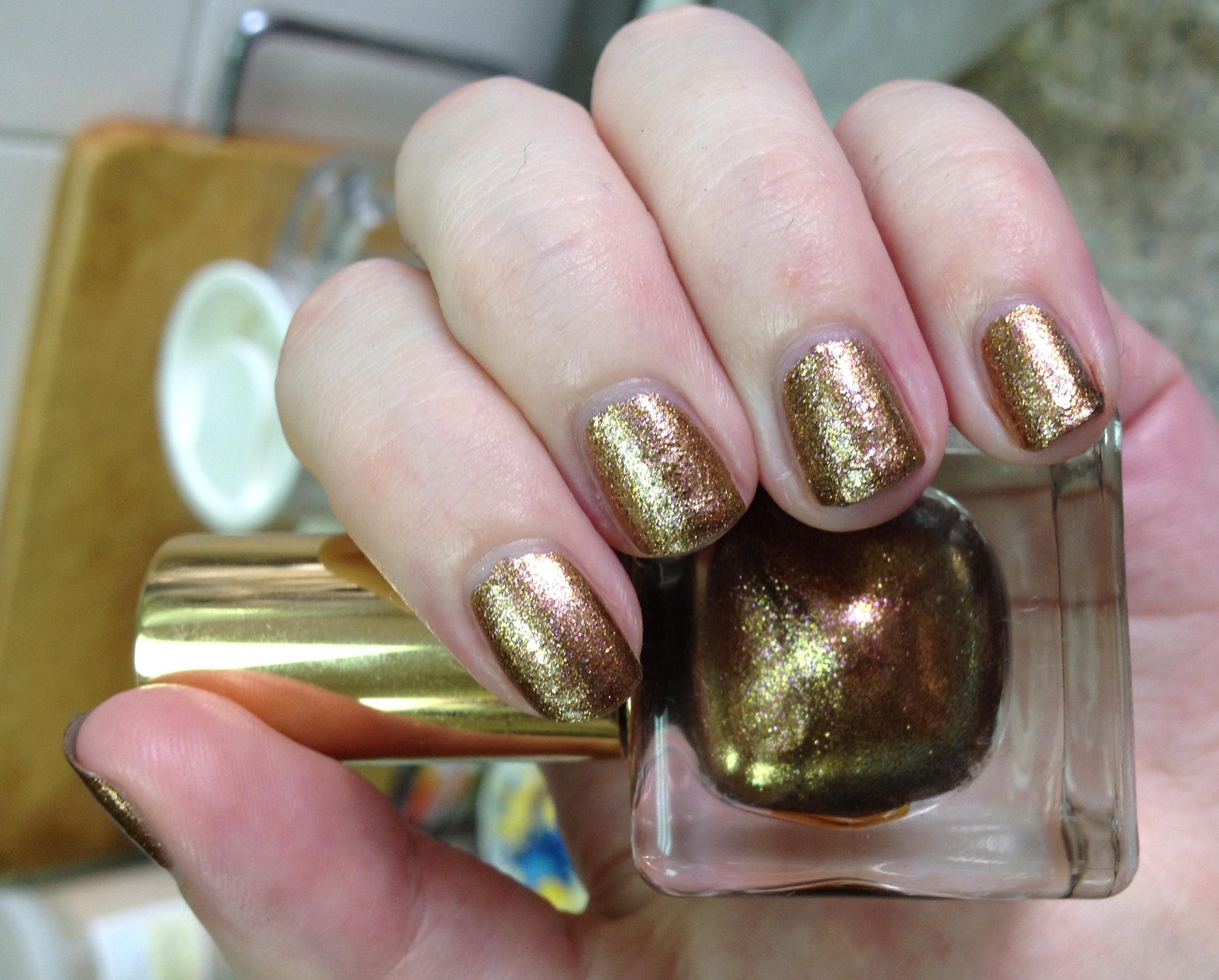 Estée Lauder Nouveau Riche nail polish review | Through The Looking ...