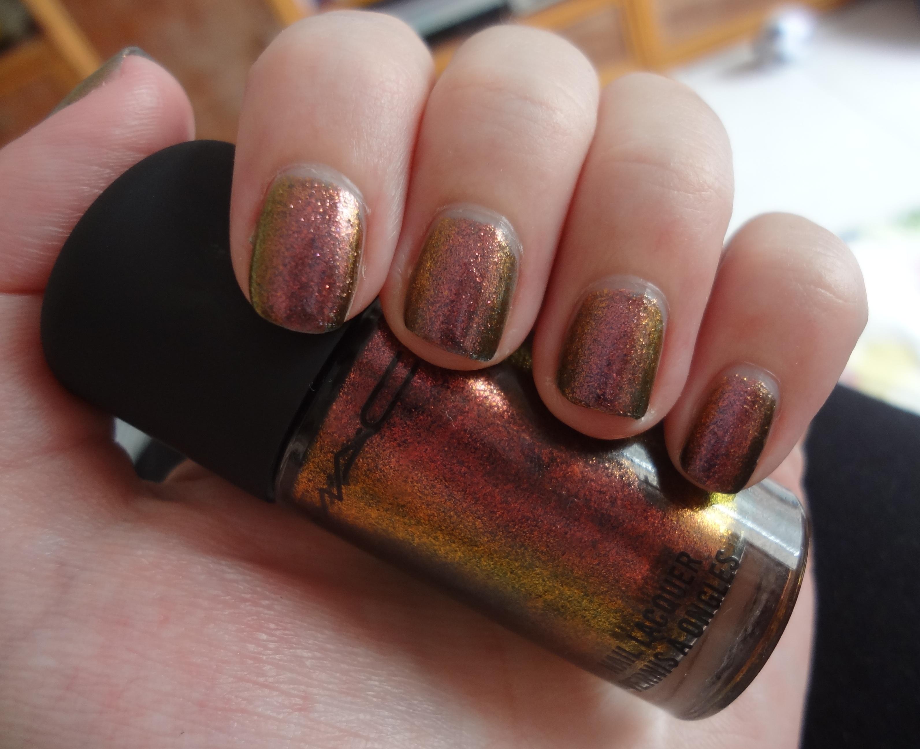 Mac Mean & Green nail polish review | Through The Looking Glass
