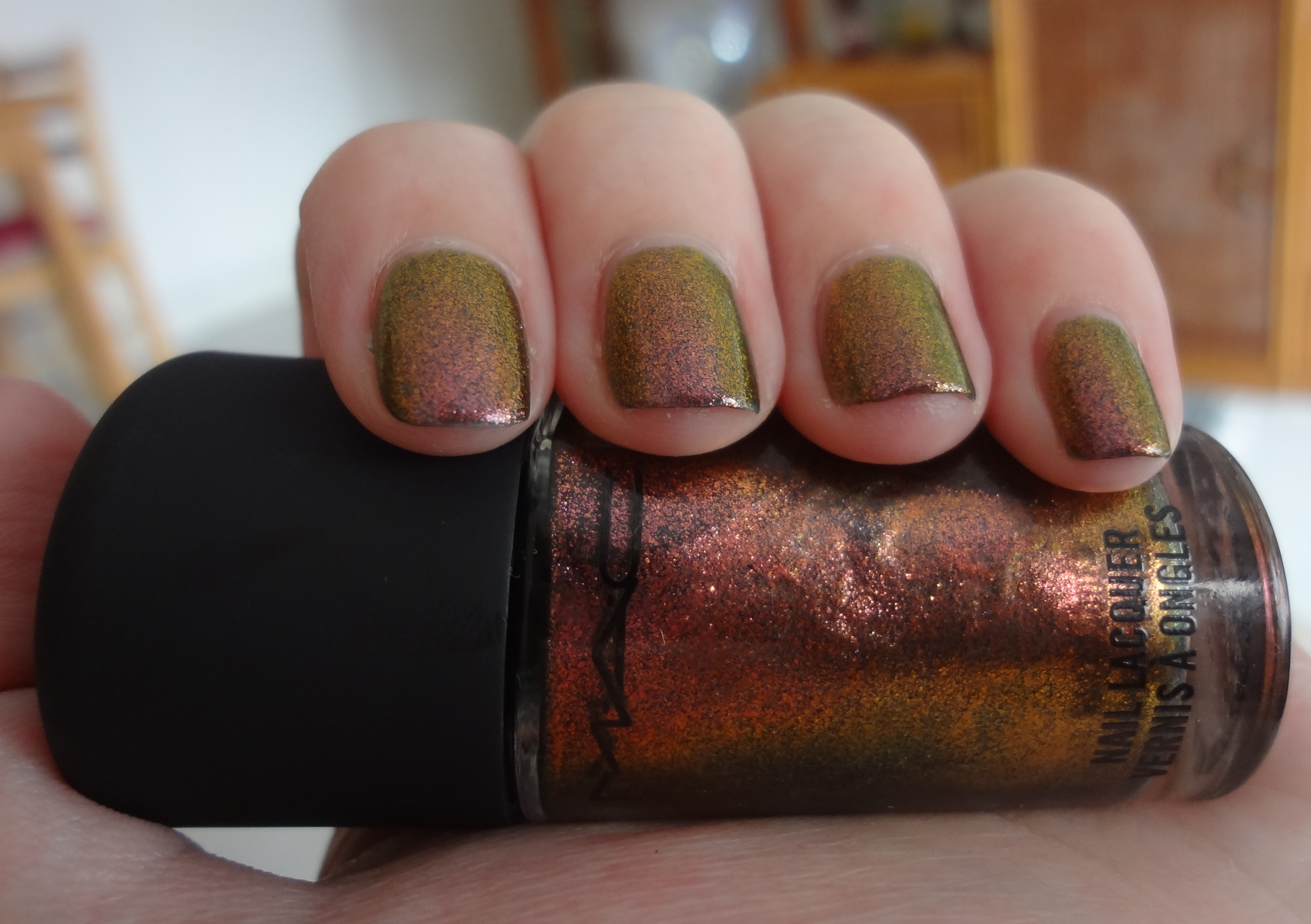 Mac Mean & Green nail polish review | Through The Looking Glass