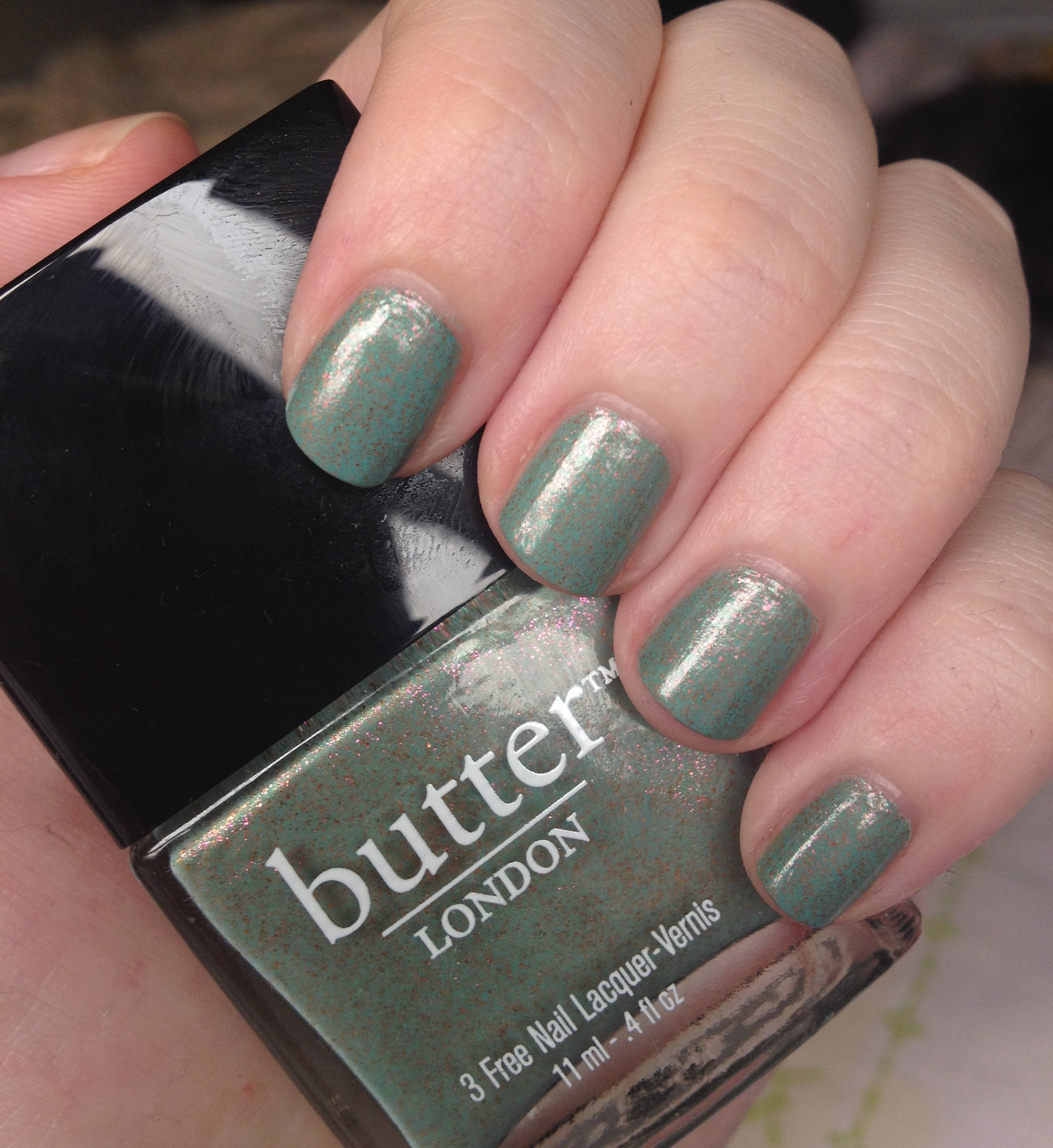 Butter London Two Fingered Salute nail polish review | Through The ...