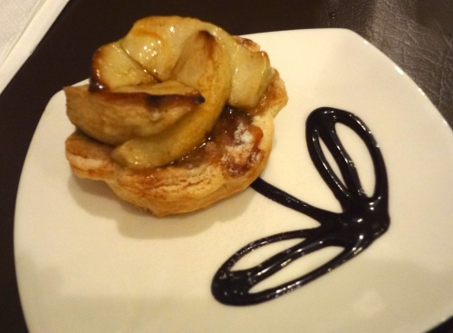 cafe corridor caramelised apple tart