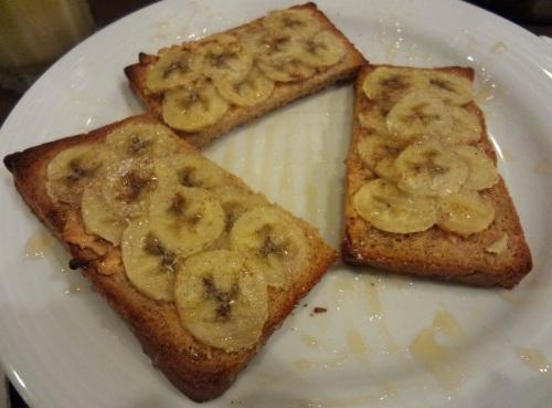 cafe corridor peanut butter and banana toast