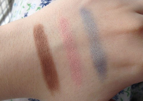 clinique chubby sticks for eyes swatches fuller fudge pink and plenty big blue