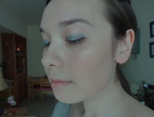 chanel stylo eyeshadow blue bay eotd