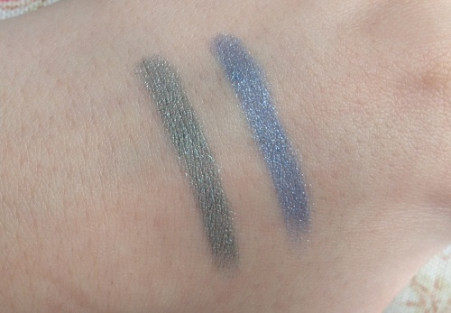 chanel stylo eyeshadows jade shore blue bay swatches