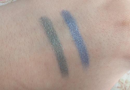 chanel stylo eyeshadows jade shore blue bay swatches