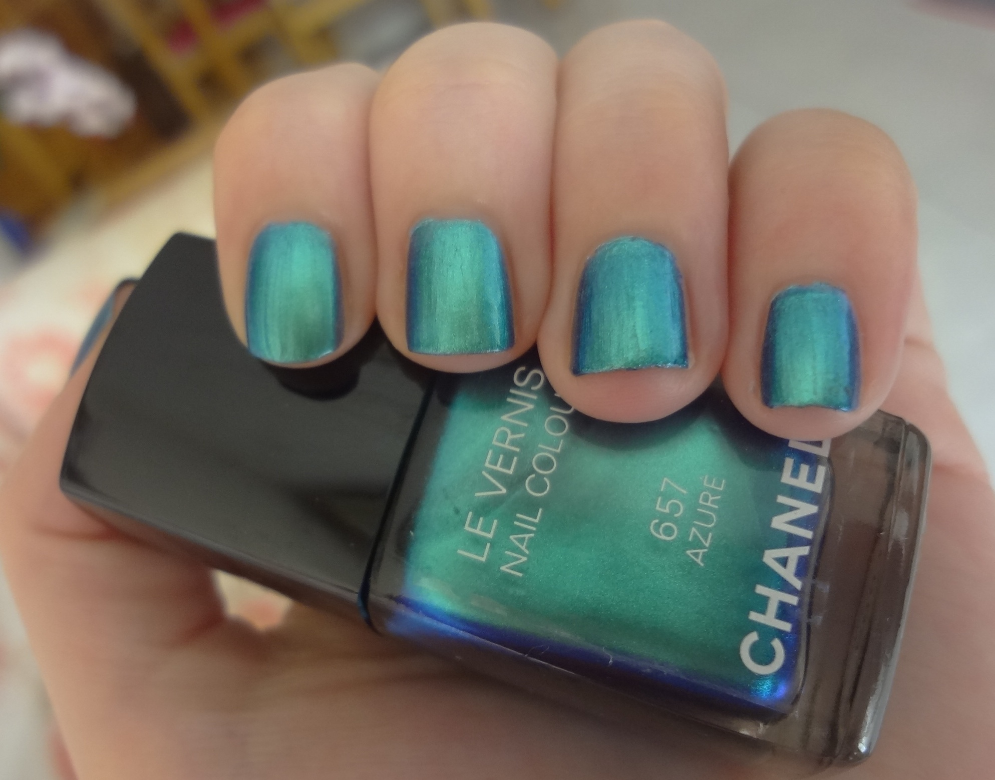 Chanel Azure Nail Polish Review Through The Looking Glass