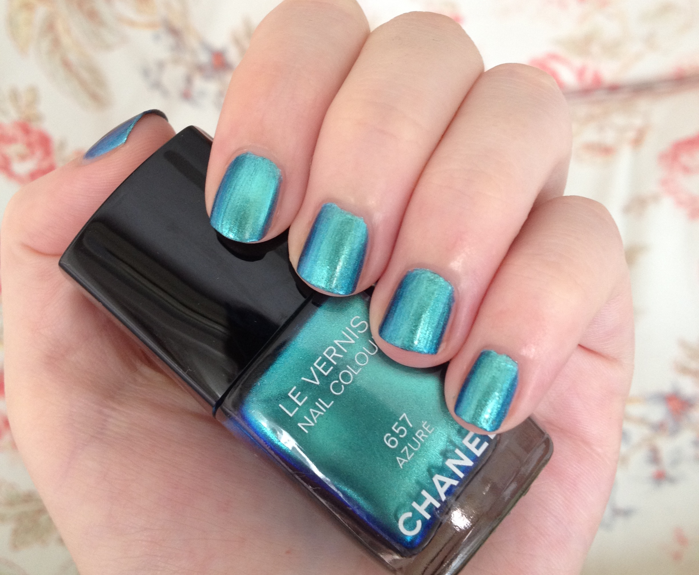 Chanel Azure nail polish review | Through The Looking Glass