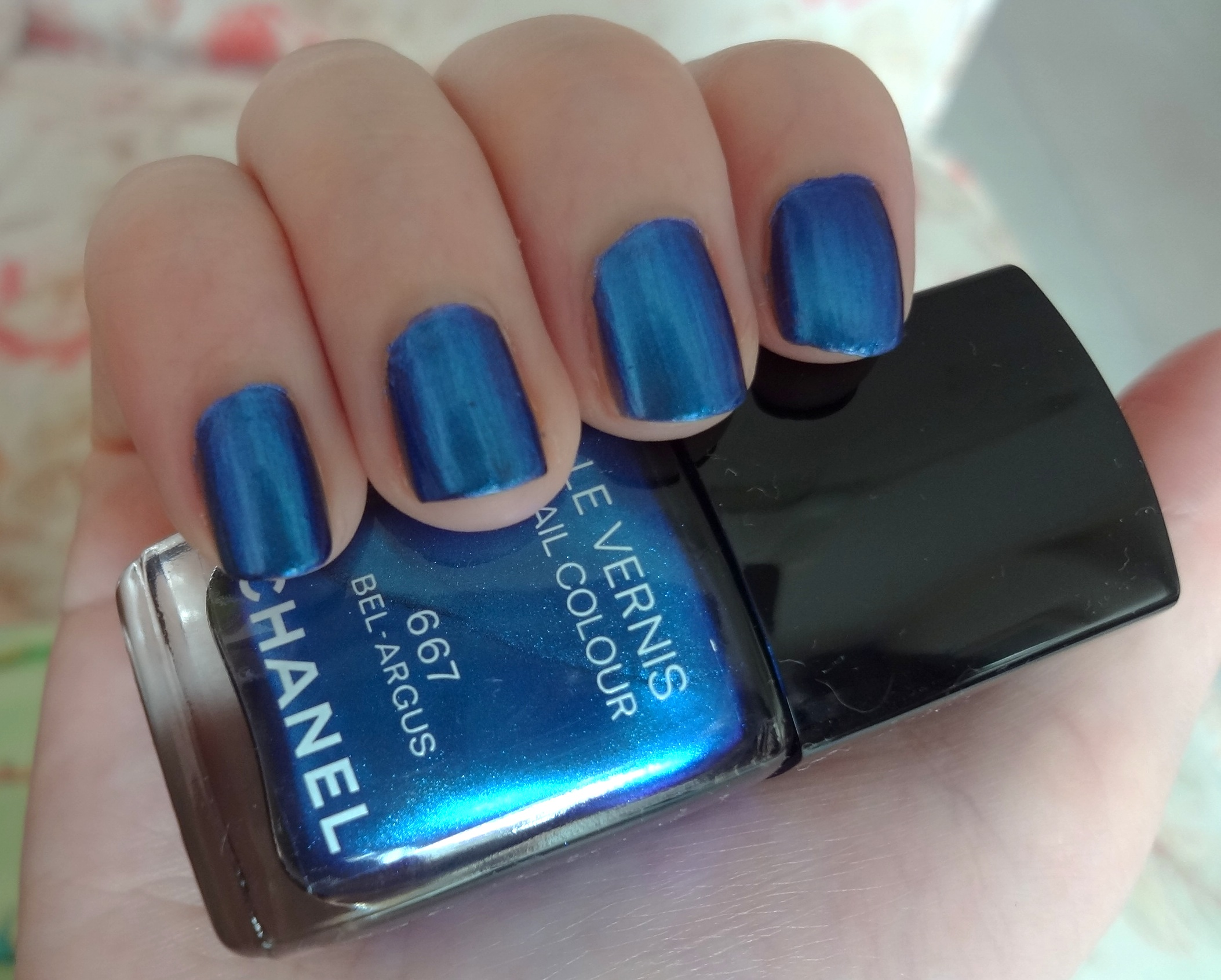 Chanel Bel Argus nail polish review | Through The Looking Glass