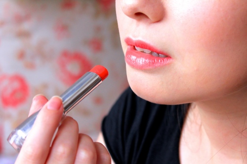 baby flame shu uemura rouge unlimited close-up