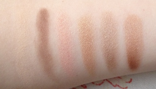 benefit most glamorous nudes swatches
