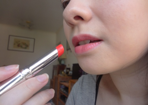 shu uemura dolly red lucid rouge unlimited lipstick