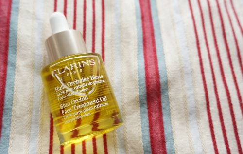 clarins face treatment oil blue orchid