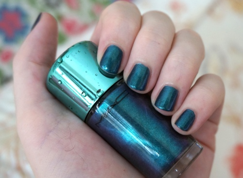 mac submerged nail polish swatch