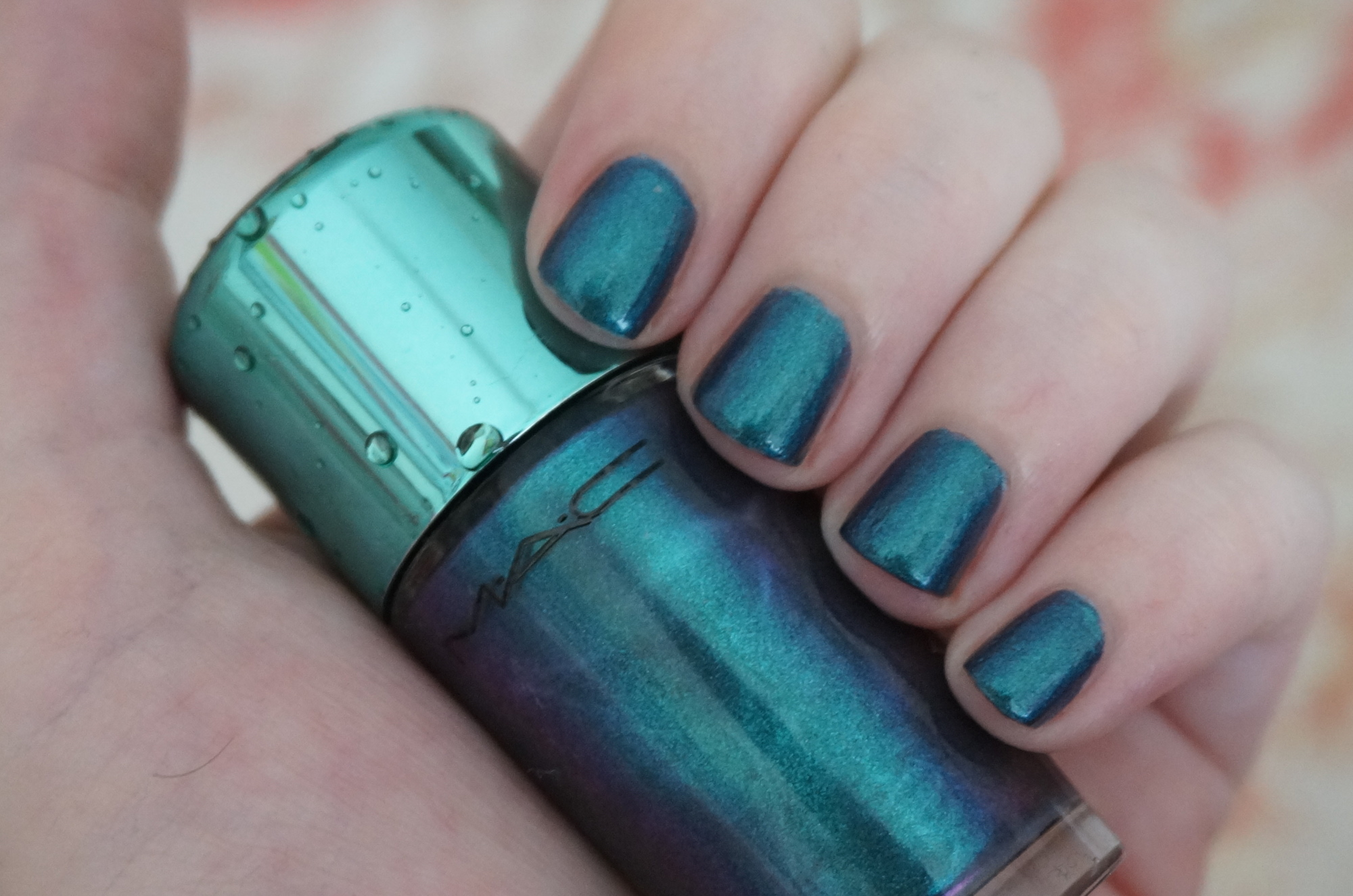 MAC Submerged nail polish review, Alluring Aquatic Collection ...