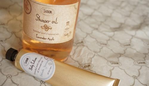 sabon shower oil body lotion