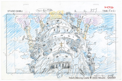 Studio Ghibli Layout Designs Howl's Moving Castle