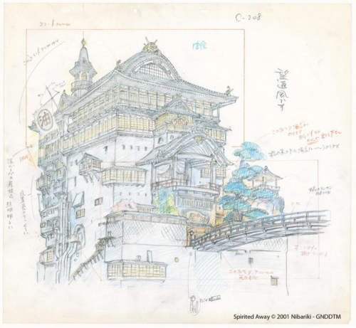 Studio Ghibli Layout Designs Spirited Away