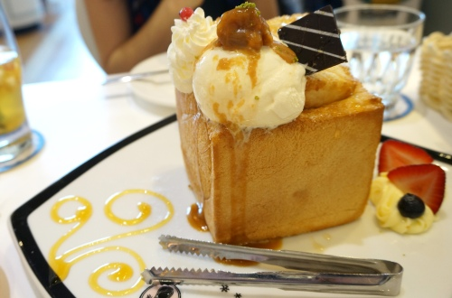 dazzling cafe hong kong caramel honey toast