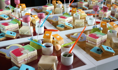 grand hyatt hong kong cake painting afternoon tea